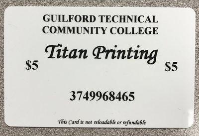 Print Card $5